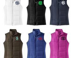 monogrammable items monogram vest etsy