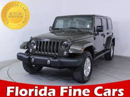 used 2016 jeep wrangler unlimited sahara suv for sale in miami fl