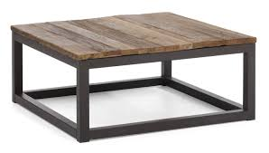 Industrial Style Coffee Table Coffee Table Square Industrial Style Weathered Wood And Metal