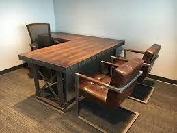 Executive Office Desk by The Hybrid Industrial Executive Office Desk L Shape Weathered