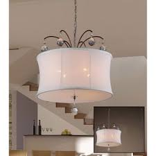Chandelier Swag Lamp Felicity 5 Light White Fabric 18 Inch Bronze Swag Lamp Free