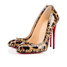 womens christian louboutin dorispiky patent leather pumps in