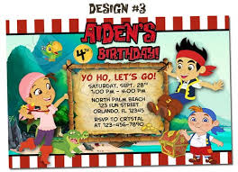 jake and the neverland birthday pirate jake and the baby invitations known inspiration