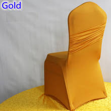 Gold Spandex Chair Covers Gold Wedding Chairs Promotion Shop For Promotional Gold Wedding