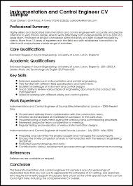 Construction Engineer Resume Sample Instrumentation And Control Engineer Cv Sample Myperfectcv
