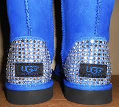 ugg s boots black custom ugg boots with blinged rhinestone heels