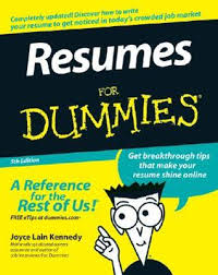 Resume Writing Books Resumes For Dummies By Joyce Lain Kennedy