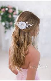wedding hair flowers diona gold blush bridal hair flower with for