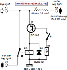 how to build fog lamp switch circuit circuit diagram