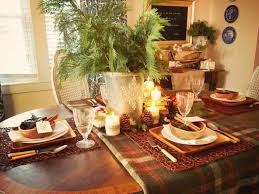 country french outdoor christmas table setting decorating design