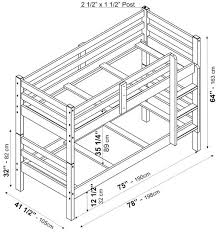 Arizona Bunkbed By Palace Imports - Twin bunk bed dimensions