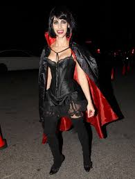 halloween thigh highs jessica lowdes photos stars on halloween 2015 spookiest