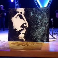 forgiven jesus painting by christian performance artist and speed