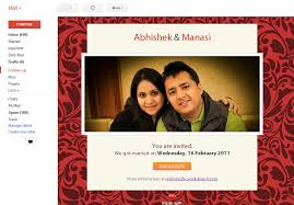 marriage invitation websites indian wedding website with free email invitations and