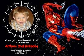 personalized spiderman birthday invitations images invitation
