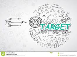 target text with creative drawing charts and graphs business