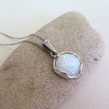 white opal silver necklace images White opal necklace silver opal necklace opal silver jpg