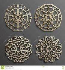 islamic ornament vector motiff 3d ramadan