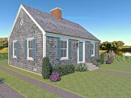 tiny cape cod colonial revival traditional style house plan