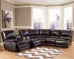 Sofa Sectional Leather Black Leather Reclining Sectional U2014 Jen U0026 Joes Design How A