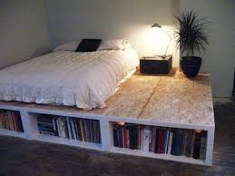Plans To Build A Platform Bed With Drawers by Diy Platform Bed With Shelves Storage Decorations