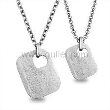 necklaces with names engraved names engraved id tag matching couples necklaces gift for 2