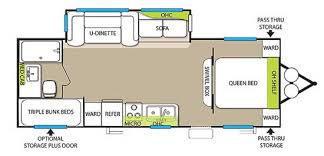 triple bunk travel trailer floor plans san diego rv rentals 2014 26 forest river wildwood triple bunk