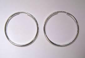 silver sleeper earrings 3cm wide sterling silver 1 5mm thick tubular sleeper hoop earrings