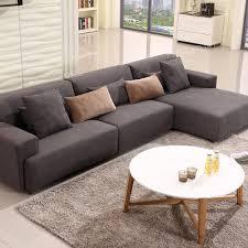 canape et salon meubles de salon moderne canapé en tissu avec la jambe de bois