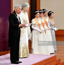 photos et images de japanese royal family attend new year ceremony