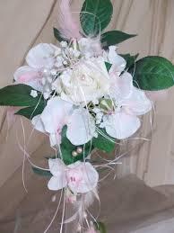 fleur artificielle mariage mariée noir et blanc fleur artificielle