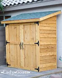 How To Build A Wooden Shed From Scratch by Ana White Small Cedar Fence Picket Storage Shed Diy Projects