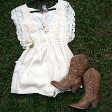 white lace dress u0026 cowgirl boots u2022spring summer style