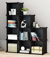 amazon com kousi 4 tier storage cube closet organizer shelf 9