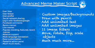 Multiple Image Meme Generator - most advanced meme maker script with bonus scripts plugins