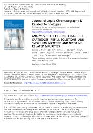 analysis of electronic cigarette cartridges refill solutions and