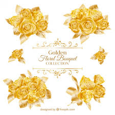 golden roses bouquets of golden roses vector free
