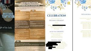 wedding programs vistaprint suit married in pennsylvania got hateful flyers not
