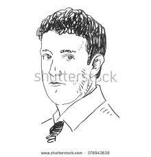 portrait facebook ceo mark zuckerberg vector stock vector