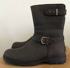s ugg australia brown grandle boots ugg australia grandle suede motorcycle boots java ebay
