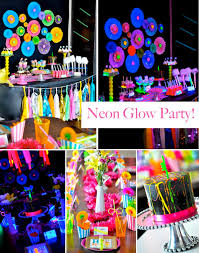 glow in the party decorations kara s party ideas neon glow in the birthday party