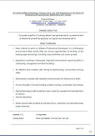 Sample Resume For One Year Experienced Software Engineer by Sample Resume Formats For Experienced