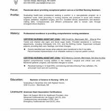 Sample Cna Resume With No Experience by Cna Sample Resumes Professional Resume Objective