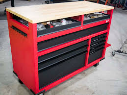 husky 66 in w 24 in d 12 drawer heavy duty mobile workbench husky tool box and workbench review back in black