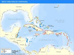 carribbean map caribbean threatened reef map caribbean mappery