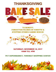stepping stones canine rescue november 18 thanksgiving bake sale