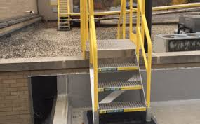 industrial stairs powder coated aluminum metal stairs from
