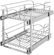 what is the depth of a base cabinet rev a shelf 5wb2 0918 cr base cabinet pullout 2 tier wire basket reduced depth sink base accessories 9 w x 18 d inches