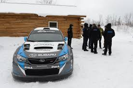 rally subaru snow first slide 2014 subaru wrx sti rally america race car motor trend