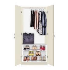 alta free standing wardrobe closet 3 extending shoe storage